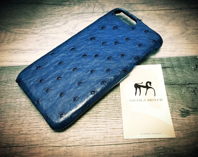 """Apple iPhone Genuine OSTRICH Leather Case for 6 4.7"""" & PLUS 5.5"""" 5s  Galaxy S8 Note 8 Google Pixel and Pixel 2 XL color to Choose"""