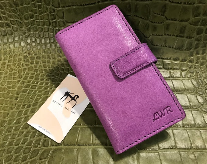 iPhone 13/12/11/xs/8/7/6/5  Leather Case Flip Wallet Bifold Style Magnet closure CHOOSE Device and Color