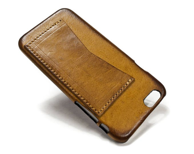 """iPhone Leather Back Case with credit card SLOTS HORIZONTAL for X 8 7 6s 64.7"""" & PLUS 5.5"""" iPhone Se/5s colour to choose"""