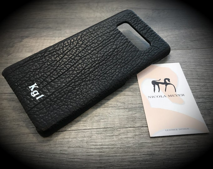 SHARK Leather Samsung Galaxy Apple iPhone Google Pixel  color BLACK in photo other colors to choose