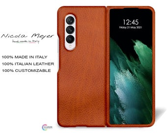 Samsung Galaxy Z FOLD 3 Leather Case genuine natural leather to use as protection color to CHOOSE