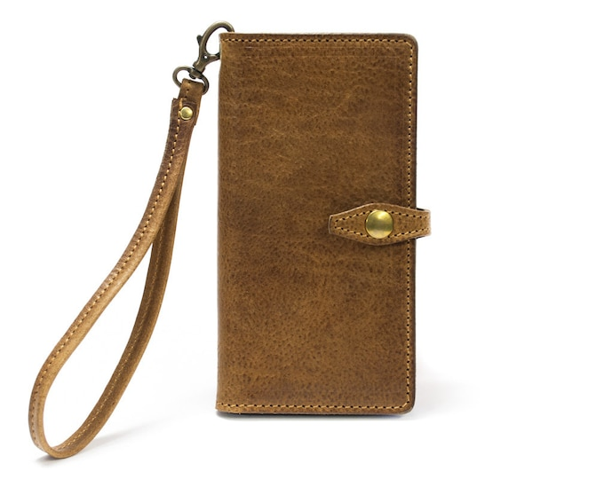 iPhone Leather Case Flip Wallet Bifold Style with Bracelet lace for iPhone X 8 7 6S or 6S PLUS iPhone SE 5S iPhone 5 CHOOSE Device and Color