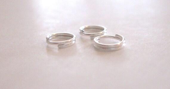 BULK 400 Split rings 8mm silver plated FS382