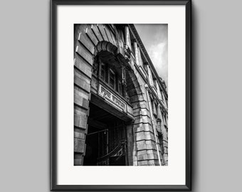 London Road Fire Station / Manchester / Urban / Black and | Etsy