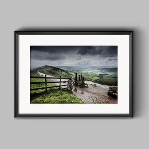 Hope Valley Landscape Wall Art in the UK Poster Original Artwork Nature Photography Framed Picture Canvas Home Decor Peak District Print