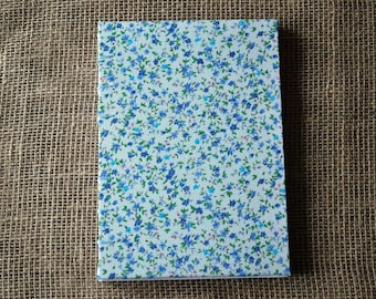 Hardback lined fabric journal A5