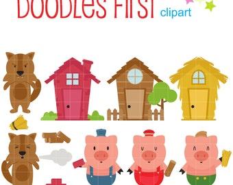 Sgblogosfera - - Three Little Pigs Transparent Background, Cliparts &  Cartoons - Jing.fm
