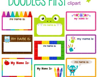 name tag clip art etsy rh etsy com name label clip art name label clip art