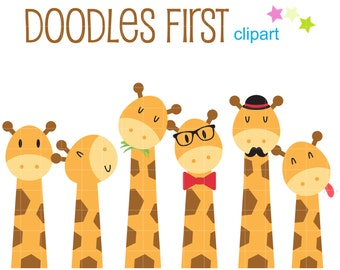 cute giraffe clipart etsy rh etsy com Cute Monkey Clip Art free cute giraffe clipart