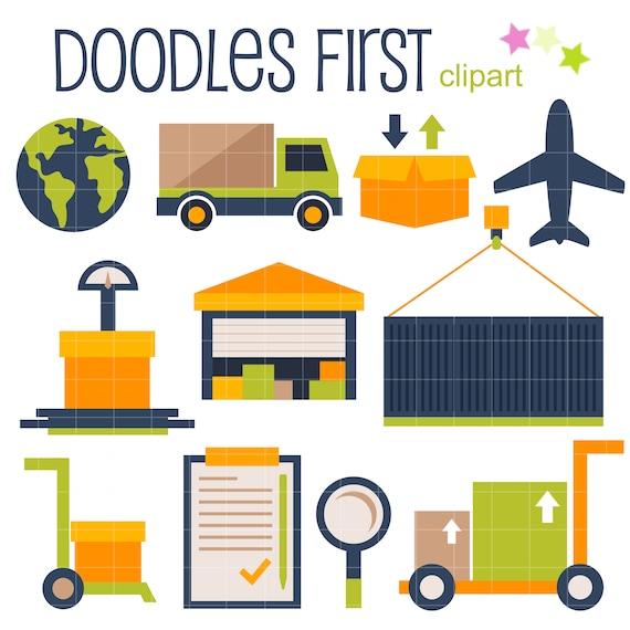 Warehouse Logistics Digital Clip Art For Scrapbooking Card Etsy