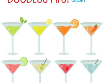 Shake Up Party Drink Digital Clip Art for Scrapbooking Card Making Cupcake Toppers Paper Crafts