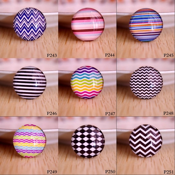 10 Kaleidoscope Patterns Cabochons Round Glass Cabochon Flat Back 10mm 20mm UK