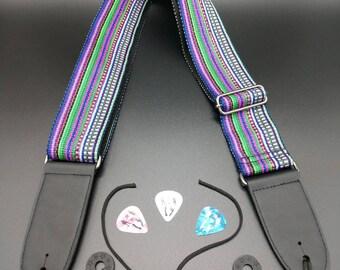Guitar Strap Custom Made Hand Woven Heavy Duty (2 in. wide)