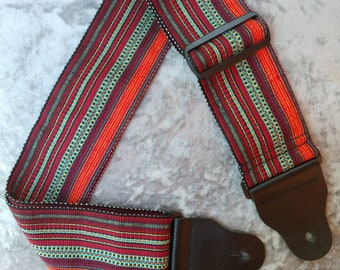 Guitar Strap Custom Made Hand Woven (3 in. wide)