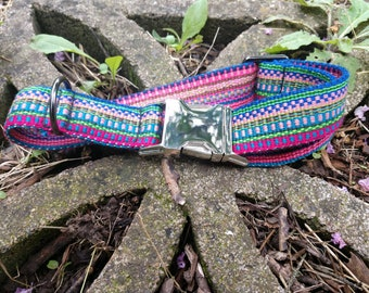 Classic Dog Collar Custom Made Hand Woven (1 in. wide)