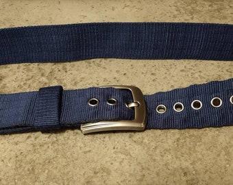 Tongue Buckle Belt Custom Made Hand Woven