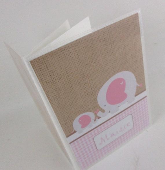 Baby Photo Album Rustic Burlap Baby Shower Gift Baby Girl Etsy