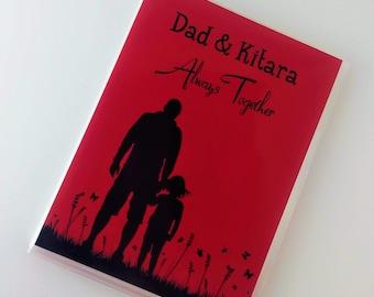 Memorial Photo Album Father Daughter Daddy Dad Memory Keepsake Baby Girl Personalized 4x6 photo album 5x7 picture album IA#462