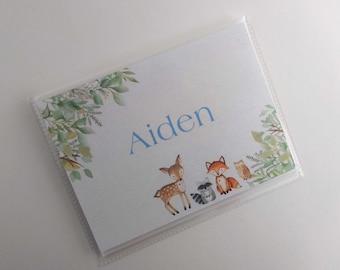 Photo Album Woodland Boy Baby Shower Advice Book Wilderness Forest Animal Grandmas Brag Book Newborn Gift4x6 or 5x7 Pictures IA#429
