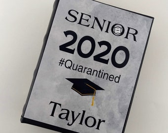 Quarantine Graduation Photo Album Senior Class of 2020 2021 ANY YEAR 4x6 picture Personalized Gift IA#269