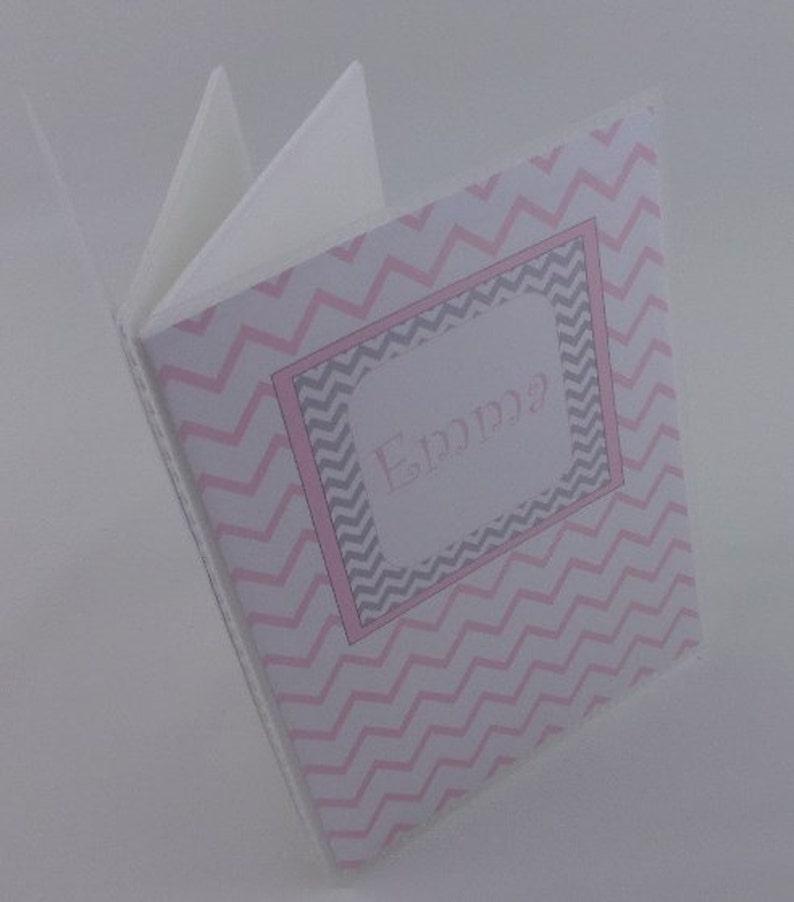Pink chevron baby girl album 5x7 or 4x6 342 Photo album Girl