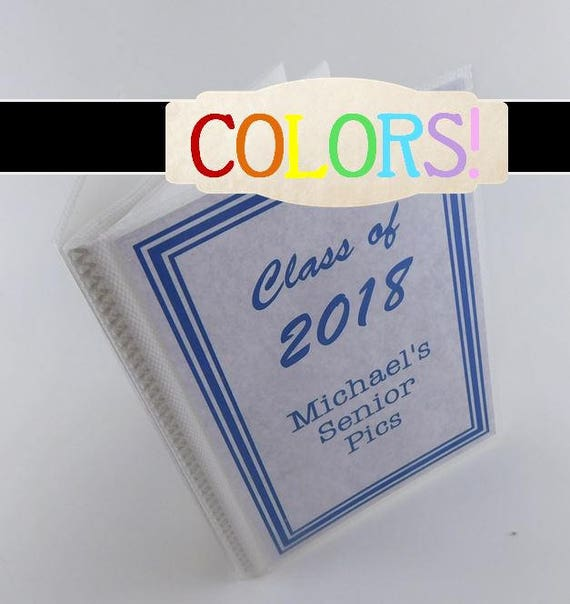 Prom Graduation IA#884 Senior Pictures Photo Album Class of 2018 5x7 or 4x6 High School Highschool Graduate Party Personalized Gift