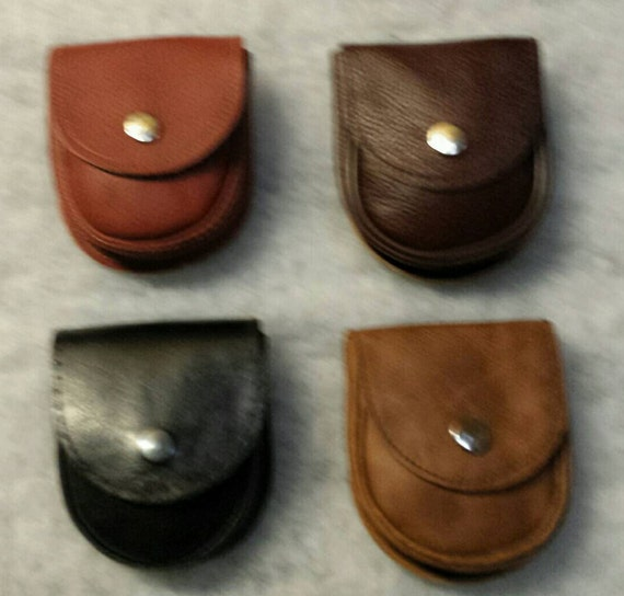 """SMALL  LEATHER  POUCH ,Office / Phone,Bush craft ,Cosplay / Batman New Rattlesnake effect , - Leather Belt loop 4.25"""" X 3.75"""" X 1"""" / Bacsew"""