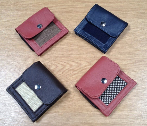 Minimal Simple British Quality Guaranteed  BIFOLD Credit card  WALLET + L zip  Coin Section