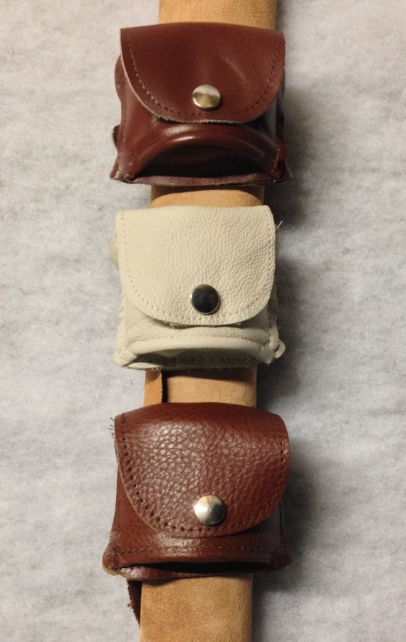 Soft Brown Leather WRIST PURSE / POUCH Two sections,Buckle wrist strap /12 Colours Biking,Hiking,Steampunk ,Cosplay, Iphone cables Clubbing
