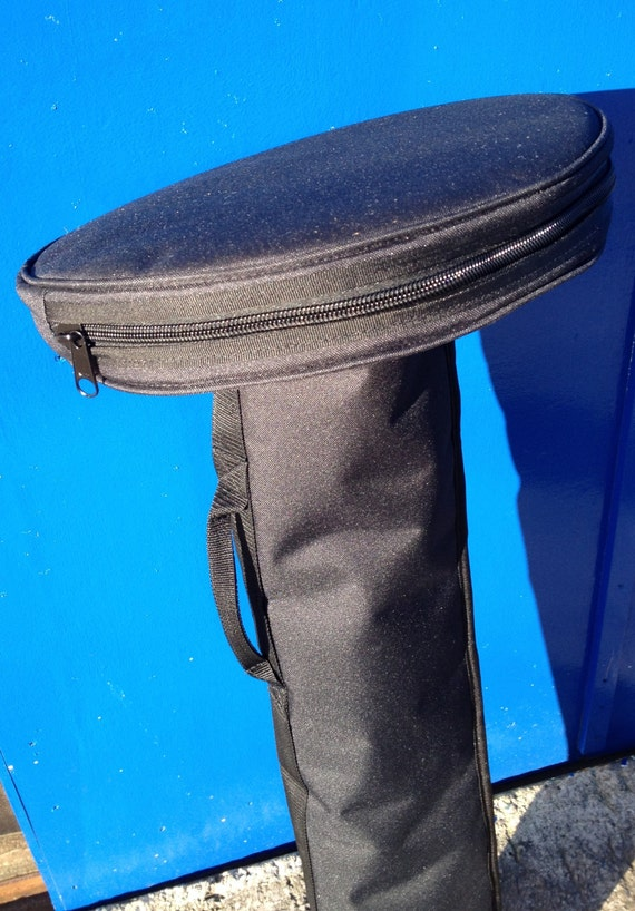 Fully Padded H/duty  Round STAND HOLDALL / CHROME Post  Holdall ,Lined / Full End To End no 10 Zip on round part ,Short handle