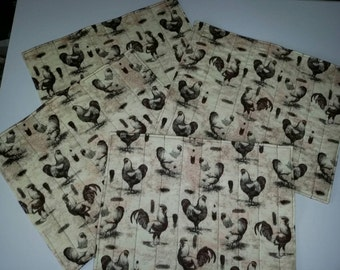 Chicken Print Placemats