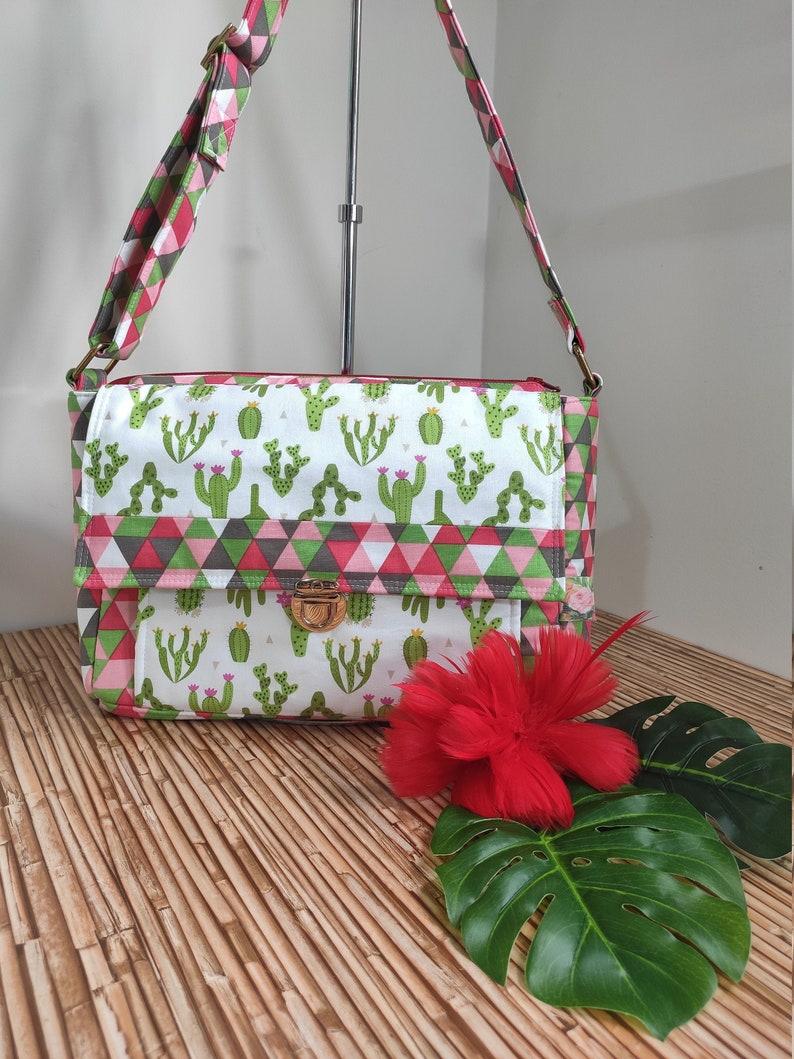 SALE 40% Off Minifacto Cactus Crossbody summer bag adjustable image 0