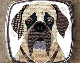 English Mastiff dog compact mirror