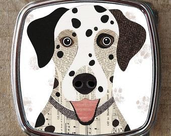 Dalmatian dog compact mirror