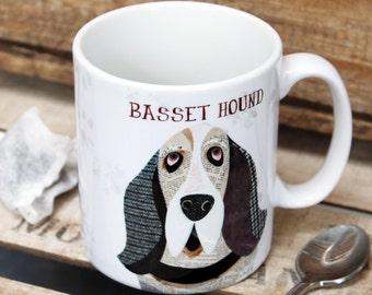 Basset Hound personalised mug