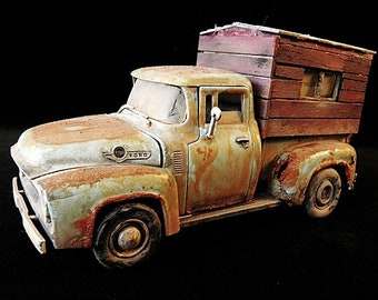 1956 Ford PU Truck with hand made camper on back