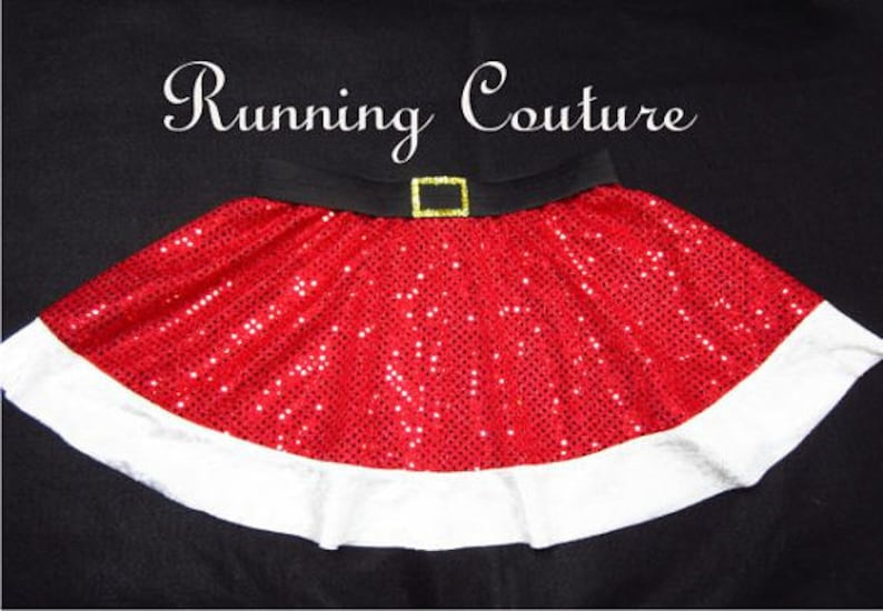 c39b8fcb6630c Child Santa Claus two layered red and white Sparkle Running Circle skirt  with gold sequins belt buckle. costume, Mrs. Claus, Santa, Xmas