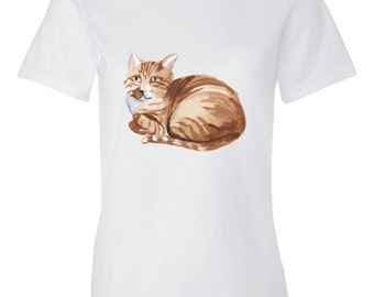 Striped Cat T-shirt for Women