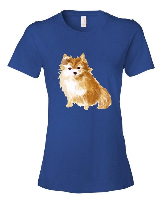 4ee5c37c4 Pomeranian Dog T-Shirt for Women | Etsy