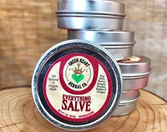 Everything Salve 1 oz  Bug Bites, Burns, Bruises, Cuts, Scrapes, Rashes, Mild Fungus