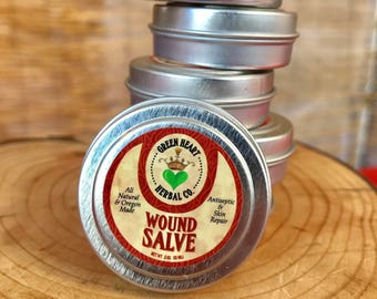 Wound Salve .5 oz Antiseptic and Skin Repair, All Natural