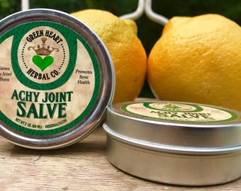 Achy Joint Salve 2oz Relieves Stiff Achy Joints and Promotes Bone Health, All Natural
