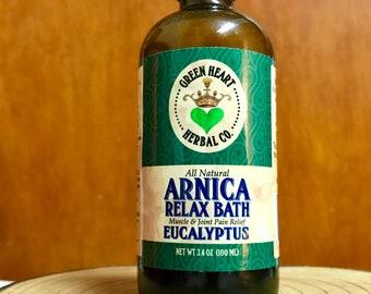Arnica Relax Bath Eucalyptus- Full body Pain Reliever in the Bathtub