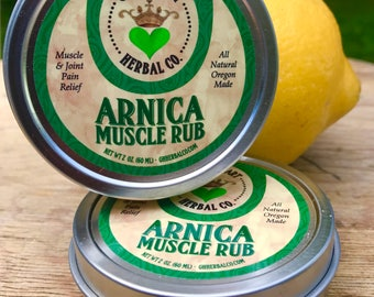 Muscle Rub - Arnica Muscle Rub Salve 2 oz Muscle Pain, Tension, and Stiffness, All Natural