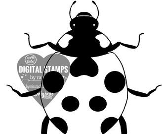 Ladybug, Printable 5x5 Digital Stamp