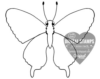 Swallowtail, , Printable 5x5 Digital Stamp
