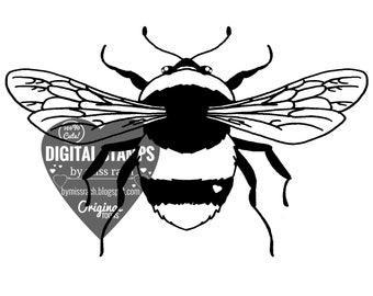 Bumblebee, Printable 5x5 Digital Stamp