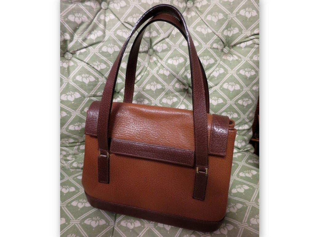 2521d411ca5f Vintage Renaud PELLEGRINO Paris camel leather bag