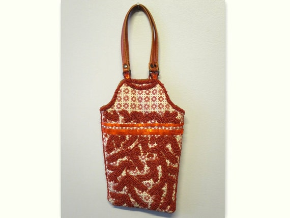 JAMIN PUECH cover orange fabric embroidered coral