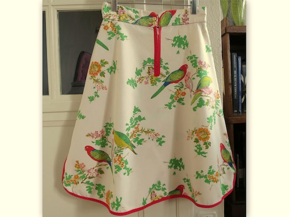KO and CO (Castelbajac) trapeze skirt decorated wi